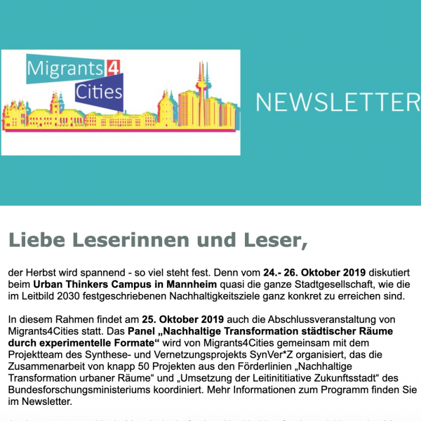 Newsletter Migrants4Cities